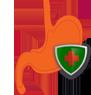 Логотип - красный желудок