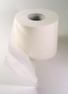 рулон белой туалетной бумаги
