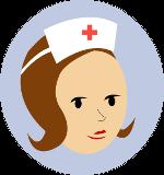 голова женщины-врача в кружочке