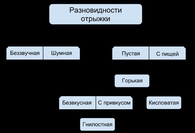 схема видов отрыжки