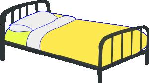 госпитальная кровать с жёлтым одеялом
