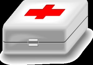 медицинский чемоданчик с красным крестом