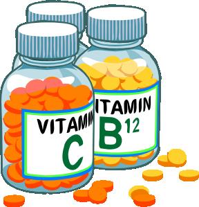 баночки с витаминами C и B12
