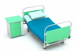 больничная кровать и тумбочка