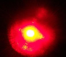 красное излучение медицинского лазера